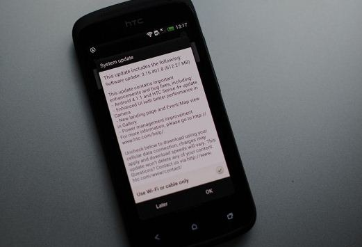 HTC ONE S jelly bean